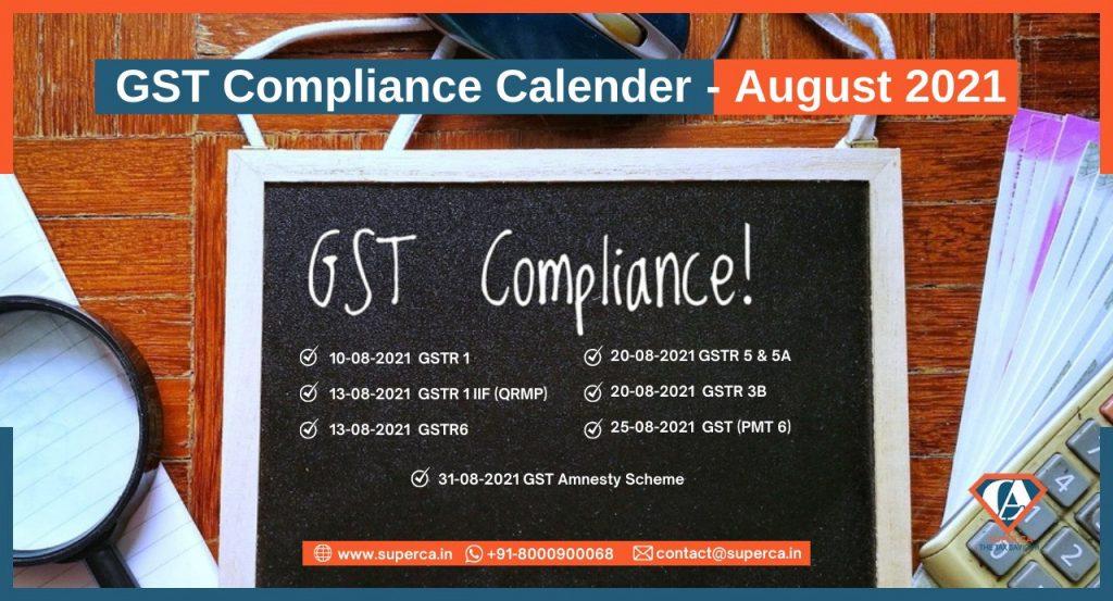 All about GST Compliance Calendar