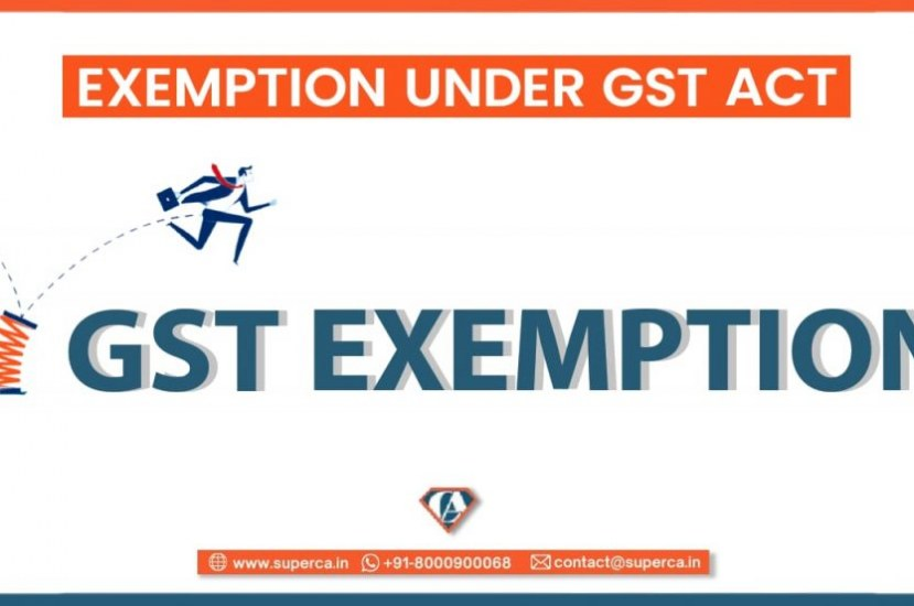 List of Goods and Services Exemptions under GST Act